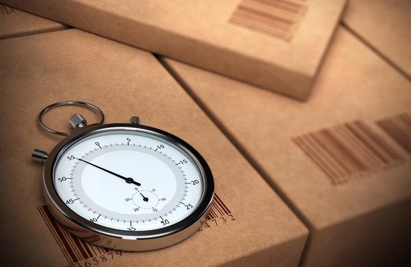 часы на упаковке
